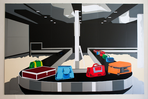 t.w.five's 'Luggage Carousal' at the Air Travel Exhibition at Corridor 2122