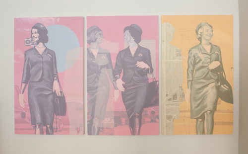 Leslie Batty's paintings at the Air Travel Exhibition at Corridor 2122