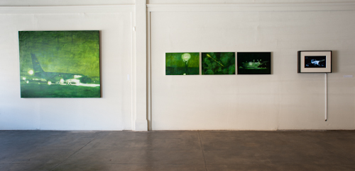 Stephen Dent's paintings at the CONTACT