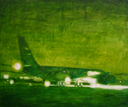 "Painting by Stephen Dent titled ""Aircraft"""